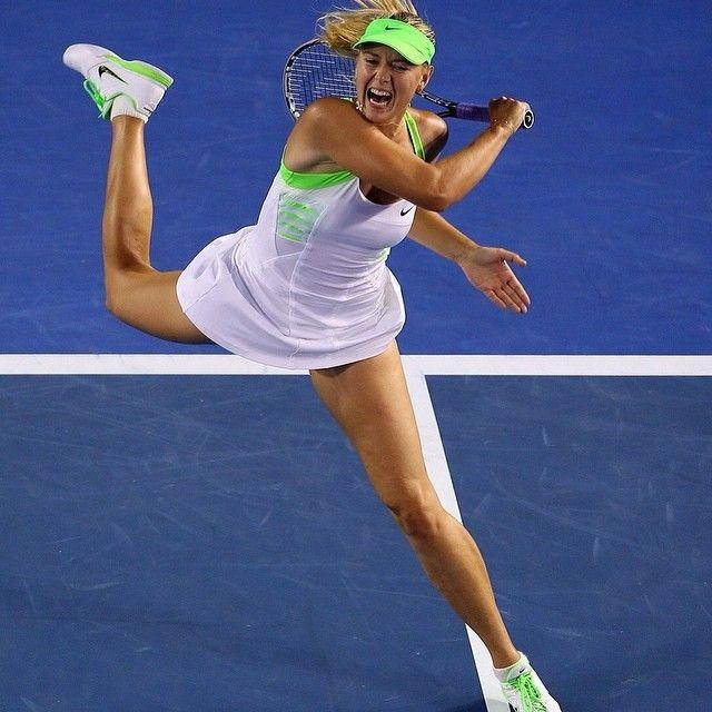 Maria Sharapova at the Australian Open #WTA #Sharapova #AUSOpen
