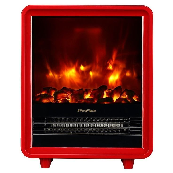 PuraFlame 12 Inch Octavia 1500W Portable Electric Fireplace Heater (Black),  Size 12