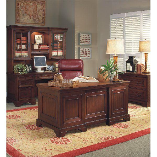 Burgundy Brown Executive Wood Desk Richmond In 2020 Classic