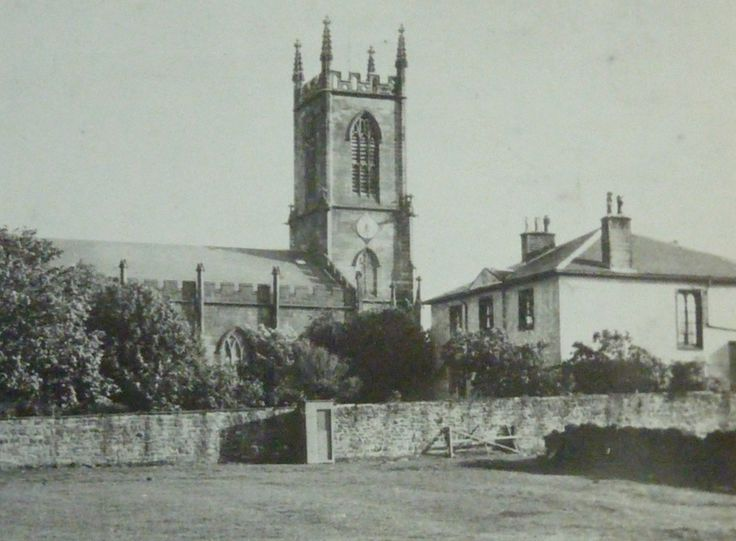 The old St Matthew's Church, Wilsden, which was demolished in the 1960s.