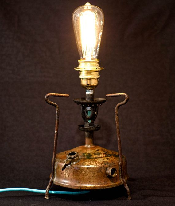 Brass Table Lamp Primus Lamp Steampunk Lamp Exposed by MarzaShop, $70.00