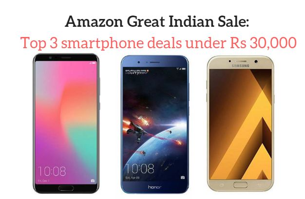 Amazon Great Indian Sale: Top 3 smartphone deals under Rs 30,000  #Aamazon #sale #mobile #android #samsung