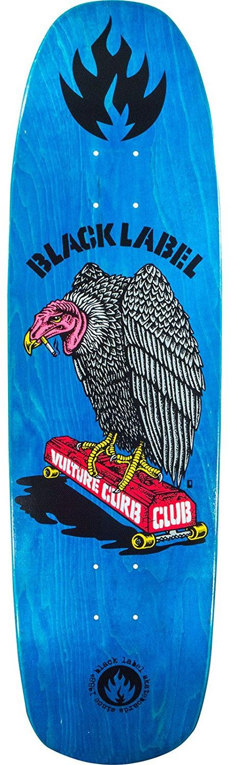 Black Label Skateboards Vulture Curb Club Skateboard Deck