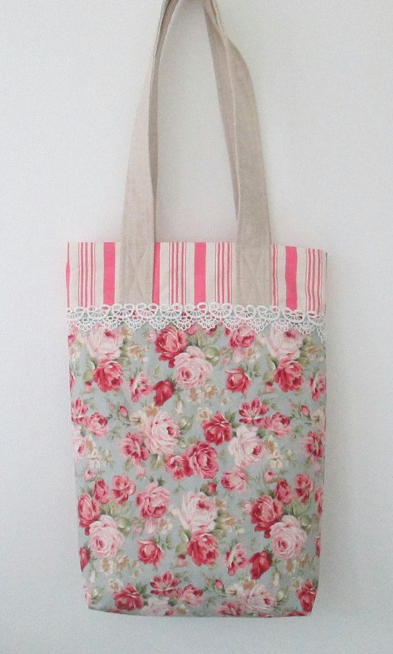 Luxury Floral Tote Bag Tote for Shopping by AwfyBrawJewellery