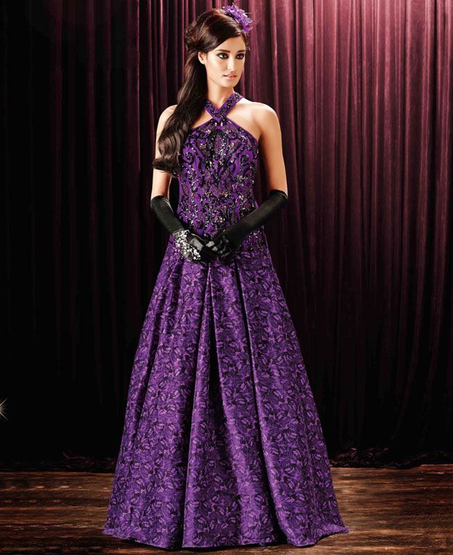 Buy Well Formed Purple Party Wear Gown online at  https://www.a1designerwear.com/well-formed-purple-party-wear-gown  Price: $78.50 USD