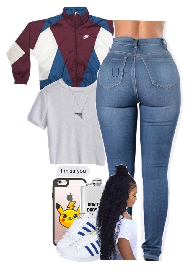 """."" by renipooh ❤ liked on Polyvore featuring Casetify, adidas and Club Manhattan"