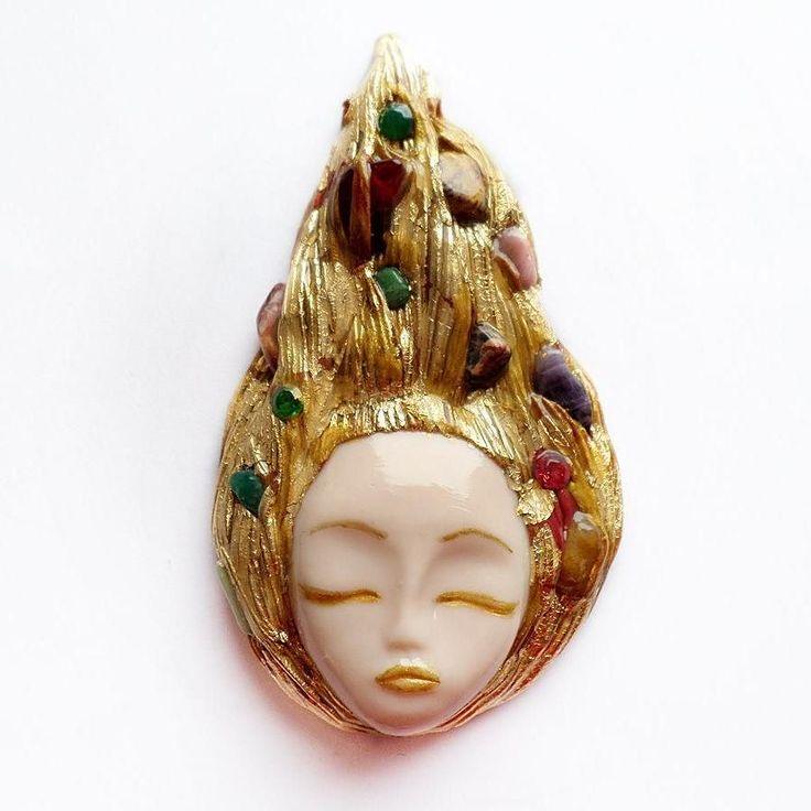 Gold foil and colorful semi-precious stones: jasper chalcedony amethyst amazonite cherry quartz crystals  #instajewelry #jewelrygram #jewelrydesign #jewelrydesigner #jewelryaddict #customjewelry #fashionjewelry #loveit #artist #artisan #jewelry #etsyjewelry #handmadejewelry #maker #jewelryforsale s #etsyshop #clayjewelry #artisanjewelry #handmade #crystals #semipreciousstones #semiprecious #golden #pagan #crystaljewelry #crafter #art #artjewelry #goddess #wiccan