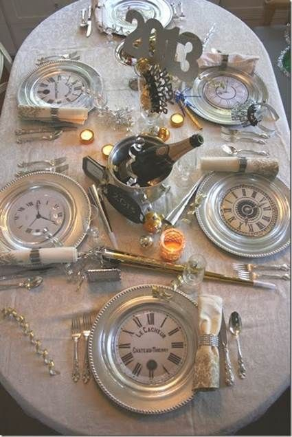 2015 - Decoración de mesas para fin de año