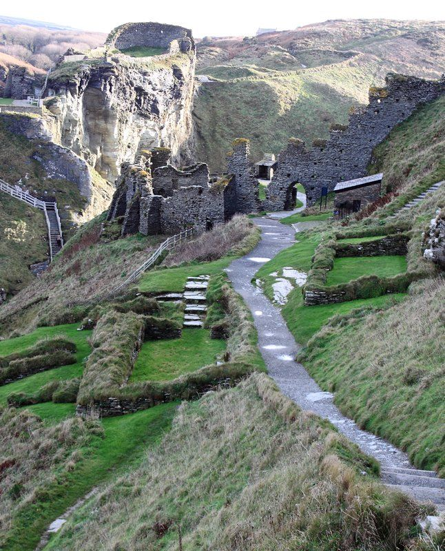Tintagel Castle, Cornwall, England. King Arthur's birth place.