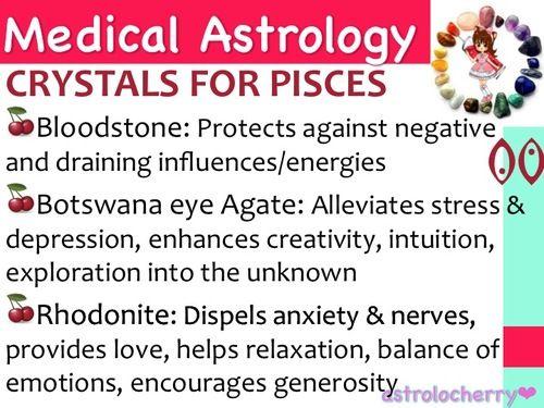 Medical Astrology: Crystals for Pisces