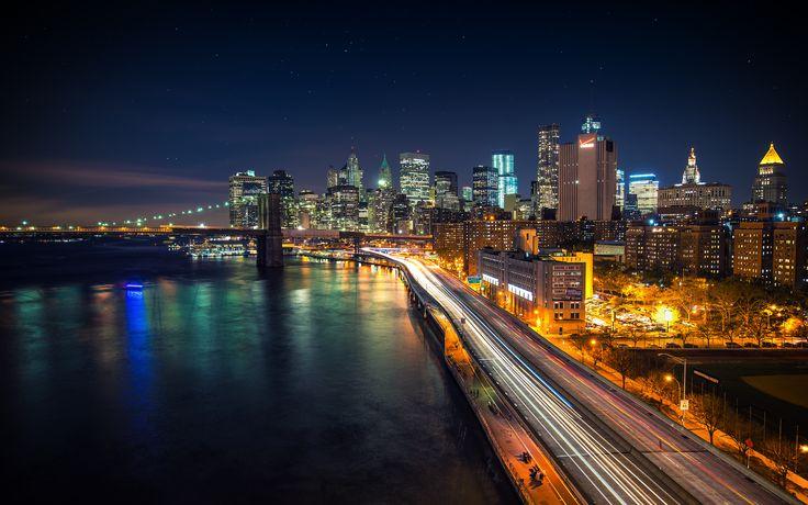 Stellar Night over Manhattan - by Dominic Kamp   #wallpapers