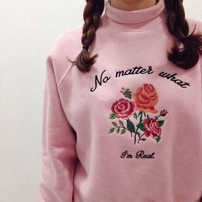 #rose #flowers #pastel #braid #pale #sweater #aesthetic #tumblr #grunge  https://weheartit.com/entry/299626794