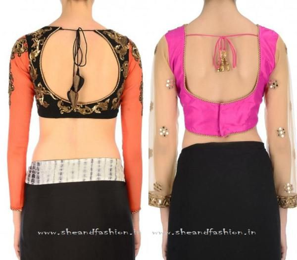 Tie Back Saree Blouse Designs