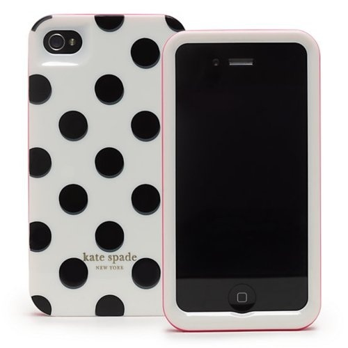 fresh ♥ iphone 4 hard cover @ kate spadeIphone Cases, Iphone 4S, Polka Dots, Black White, Phones Covers, Phones Cases, Iphone 4 Cases, Kate Spade, Katespade