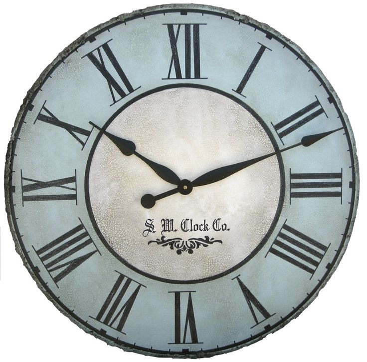 30 in north haven large wall clock antique style big by klocktime