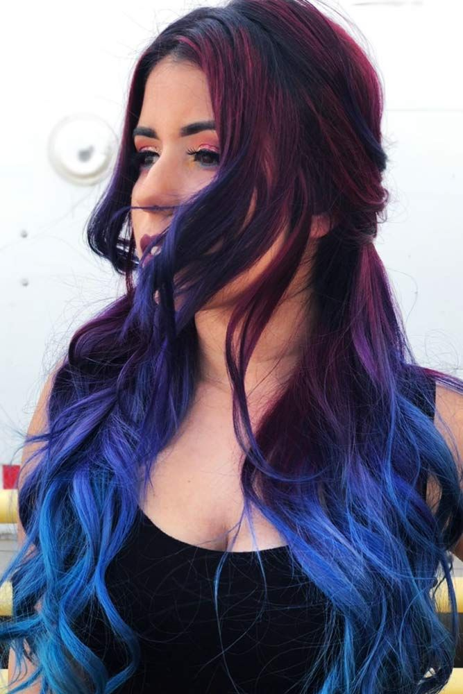 33 Trendy Styles For Blue Ombre Hair Ombre Hair Red Ombre Hair