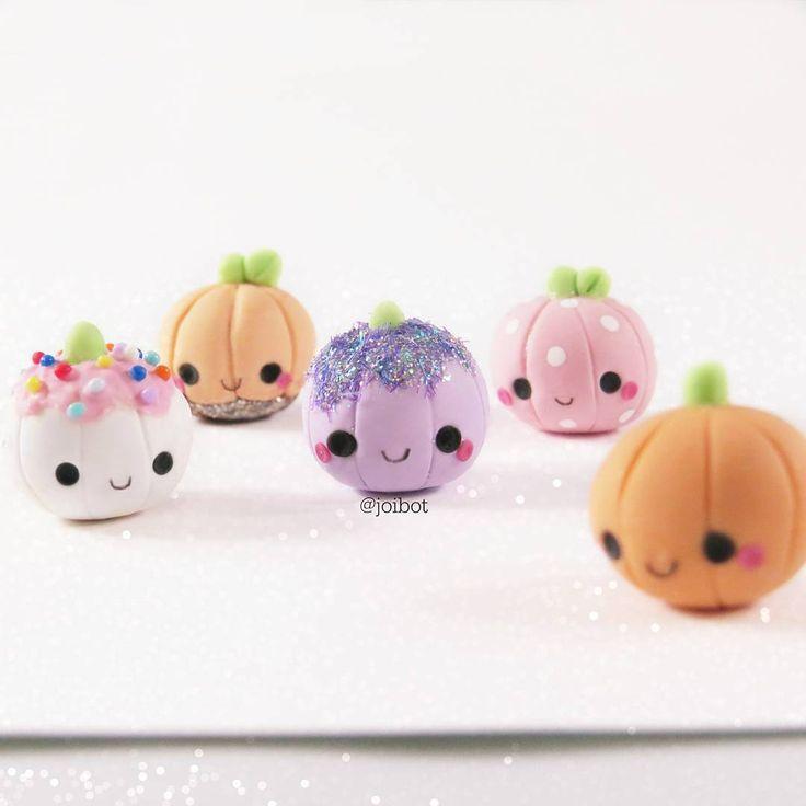#kawaii #charms #polymer #clay #pumpkins