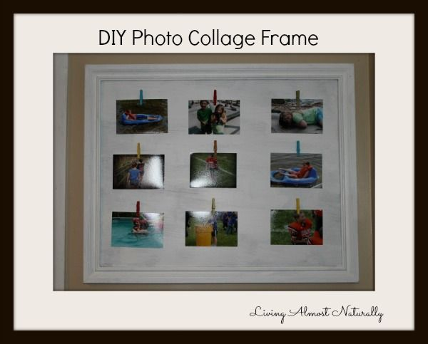 Diy Photo Collage Frame Heyy Pinterest