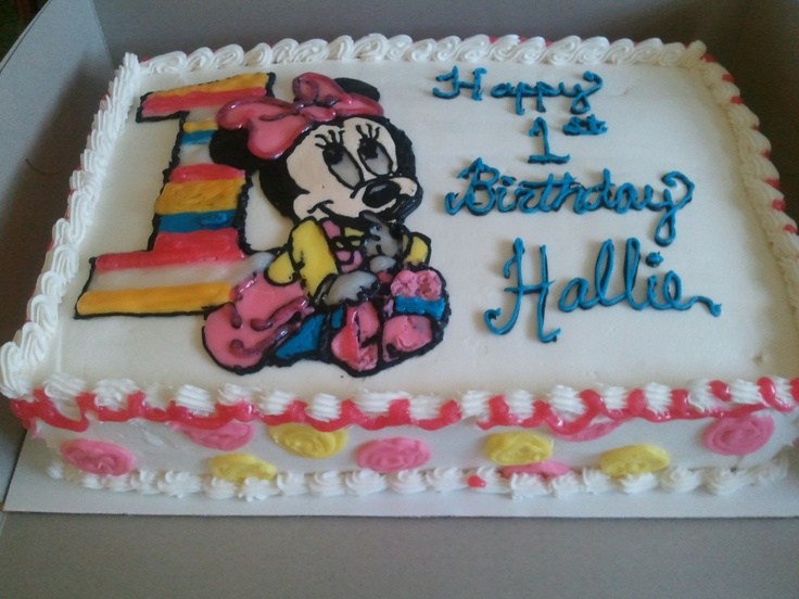 Minnie Mouse Sheet Cake nae &tt cakes 2013 Pinterest ...