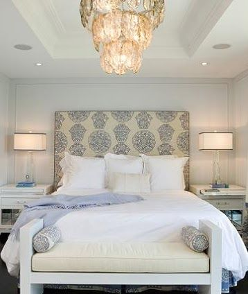 sleep: Decor, Ideas, Benches, Bedrooms Design, Masterbedroom, Head Boards, White Bedrooms, Master Bedrooms, Upholstered Headboards