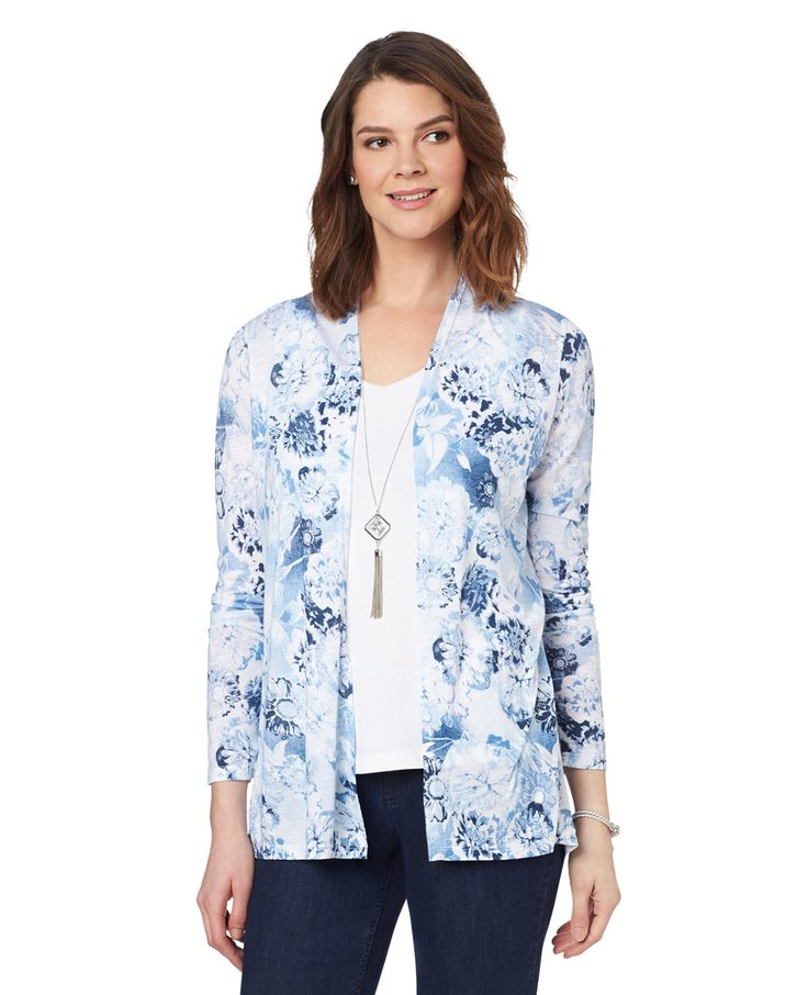 Northern Reflections - High Low Print Topper, $30.00 (http://www.northernreflections.com/high-low-print-topper-cardigan-459982792/)
