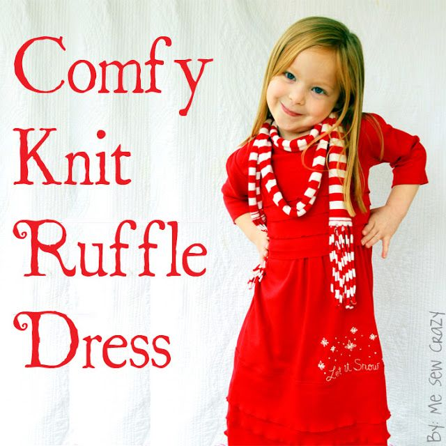 Comfy Knit Ruffle Dress at LuvintheMommyhood... - The Sewing Rabbit