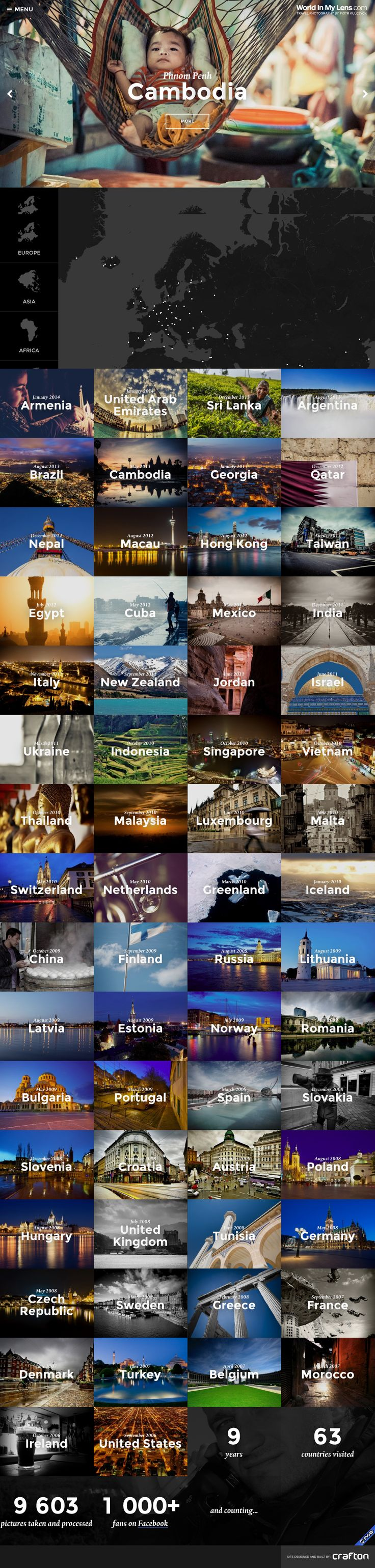 World In My Lens - portfolio gallery - #hamburger #verticalnav #picgallery #hover-slide-background #stats #counter // #hdpic