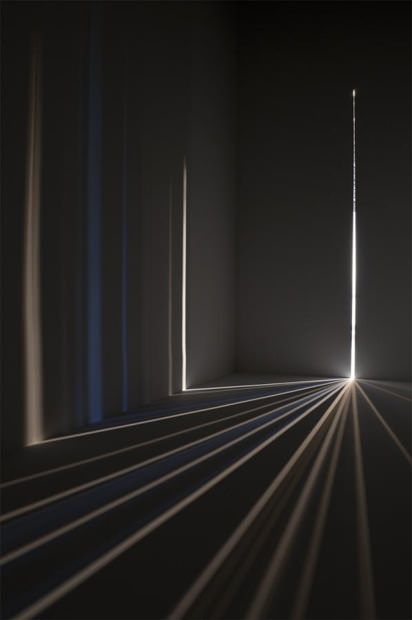 Rooms turned into colorful camera obscura light installations