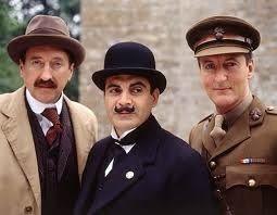 Inspector Japp (Philip Jackson), Poirot (David Suchet) and Hastings (Hugh Fraser).