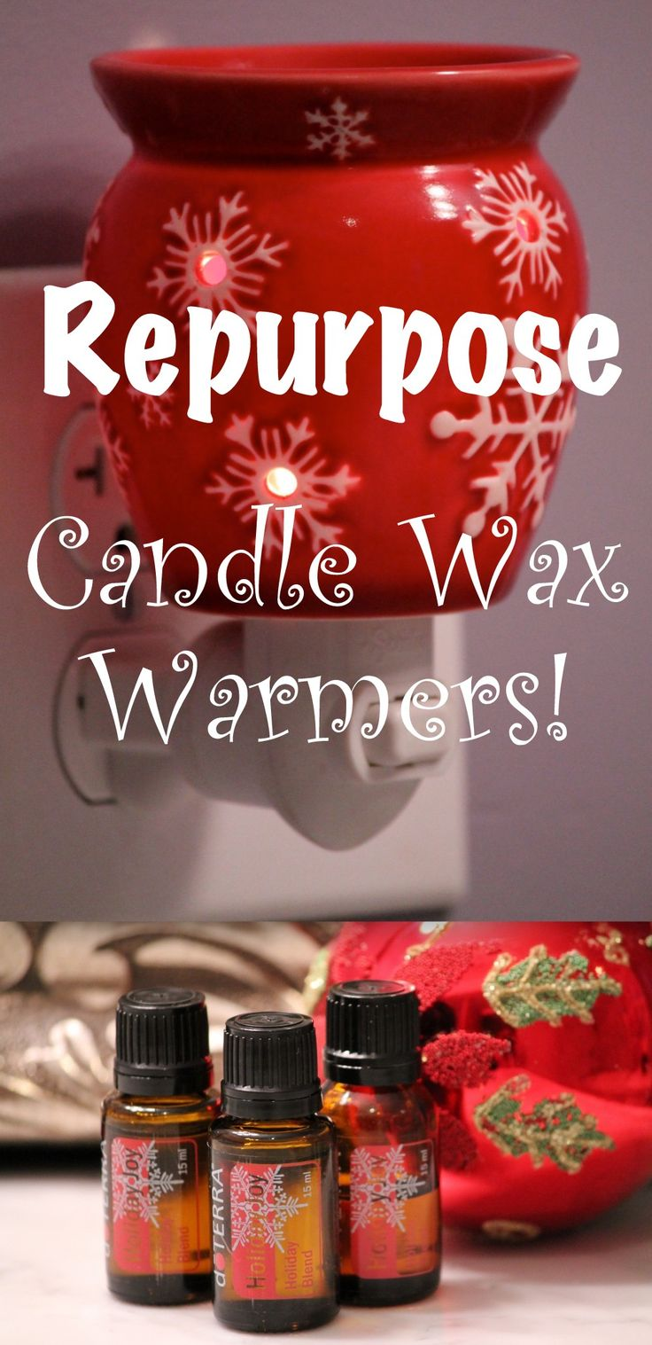 Repurpose Those Candle Wax Warmers with Essential Oils  Recreate the Williams-Sonoma store scent -  1 1/2  C. Water  6 drops Lemon EO  3 drops Rosemary EO  4 drops Clove EO  2 tsp. Vanilla  (or can use fresh ingredients!)  Let simmer on stove, or in a mini crockpot.