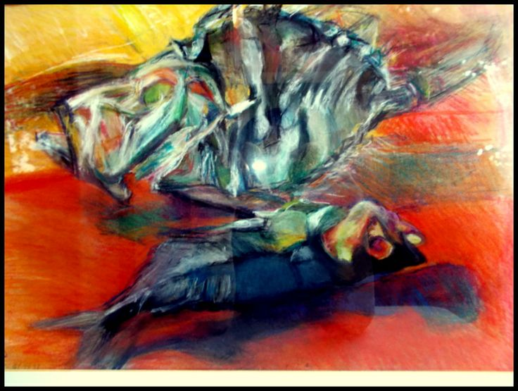 dried fishes pastel