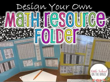 "Math Reference Folder - This is perfect for designing your own Math folders! It allows for you or your students to create Math folders that can be used as a resource all year long. We use them in our classroom as ""Privacy Folders."" This contains the following resource information for"