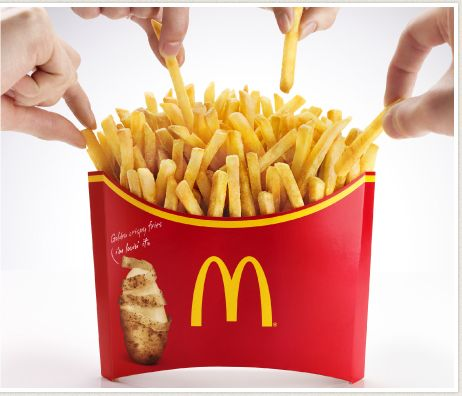 "McDonald's in Japan are gearing up to start selling the largest single portion of their iconic fries, and are calling it ""Mega Potato"". In the process, it becomes the item on the menu with the most calories the chain has ever sold. Weighing 350g, or roughly three quarters of a pound, the comically wide container of fries packs a whopping 1,152 calories."
