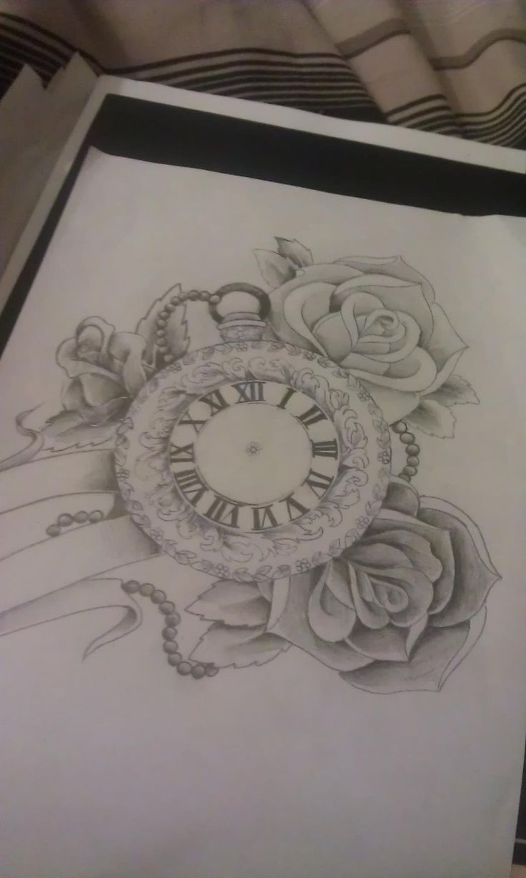 Pocket watch and roses by Mustang-Inky.deviantart.com
