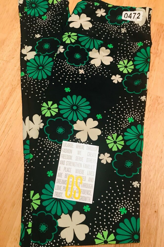 825660d9d9966 New SHAMROCKS Lularoe OS Leggings St Patricks Day Magically You Collection  | eBay