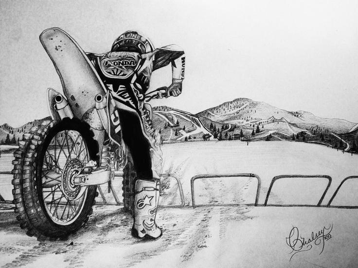 Motocross Tattoo Bikes Dirtbikes Dirt Bike Drawing Shane