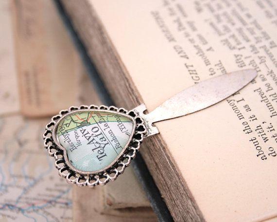 Heart Map Personalised Bookmark