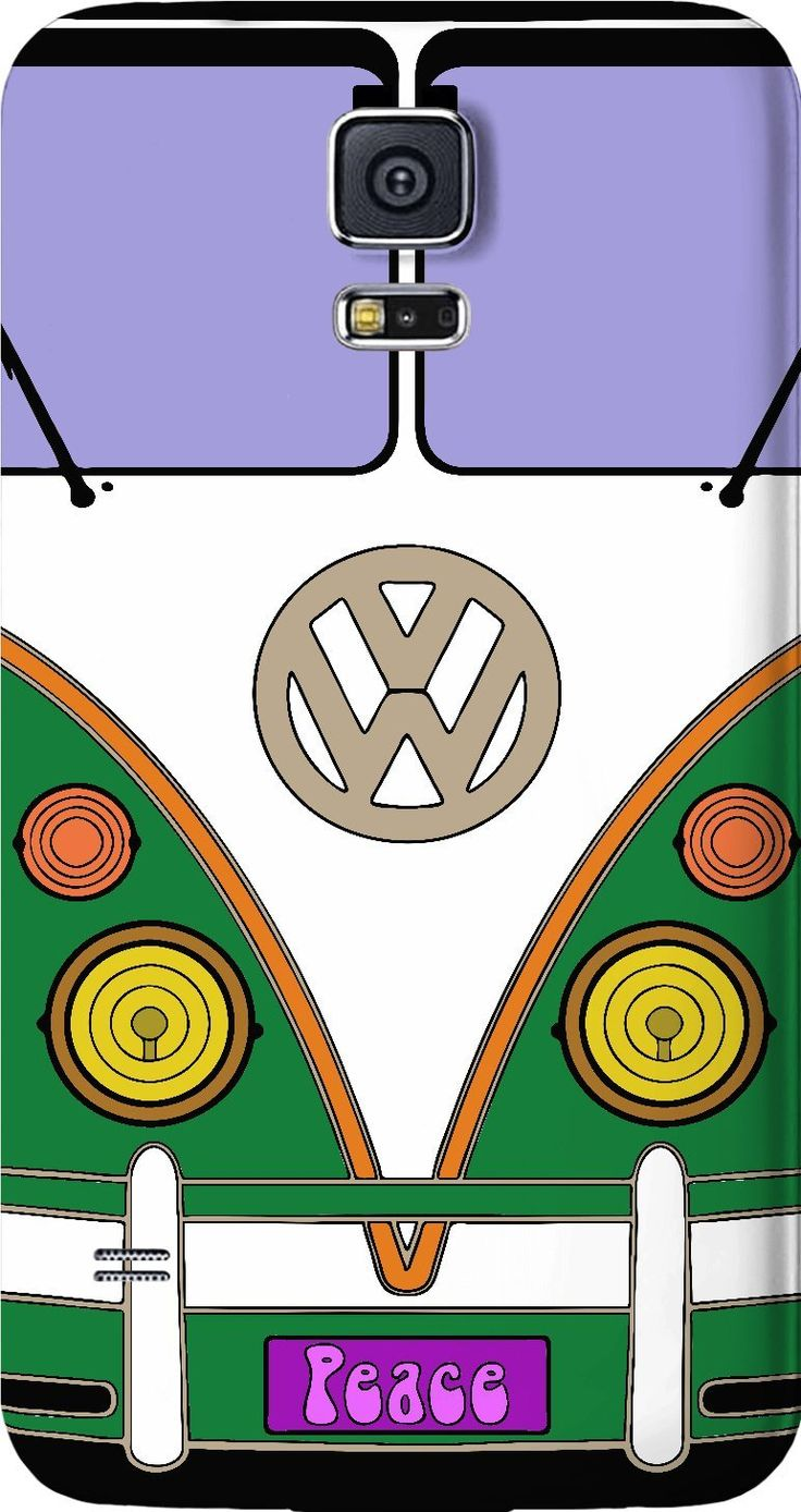 Green love wagon, VW bus, transporter, peace wagon, hippie style Samsung Galaxy case - for more art and design be sure to visit www.casemiroarts.com, item printed by RageOn at www.rageon.com/a/users/casemiroarts - also available at www.casemiroarts.com This product is hand made and made on-demand. Expect delivery to US in aprox. 11-20 business days (international 14-30 business days). #samsung #galaxy #mobile #phone #case #design