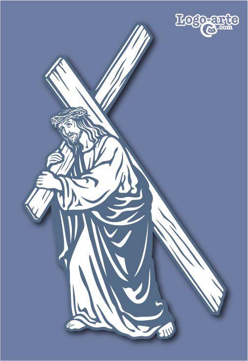 Séptima estación del Viacrucis: Jesús carga con la cruz, solo con su dolor, sin nadie alrededor, tal como debió sentirse Él mientras ascendía por el camino del Gólgota.
