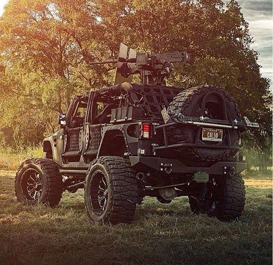 Jeep Barwork Is Brilliant, But The Guns A Bit Much.