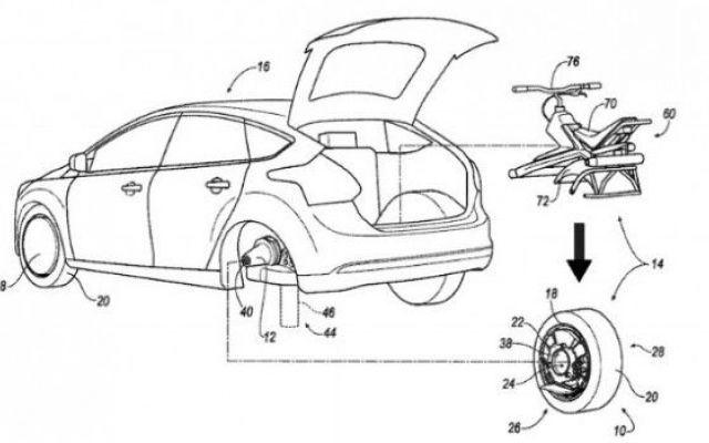 Ford prepara un monociclo che si ricava dalla ruota di un'auto In passato abbiamo illustrato il modello di un'auto, la Rinspeed Etos, con dronecottero incorporato in cui quest'ultimo assolveva ai compiti di riprendere il percorso dell'auto dall'alto, di effettua #ford #car #auto #monociclo