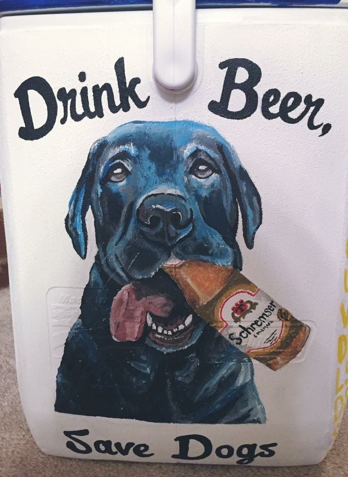 beer dog cooler