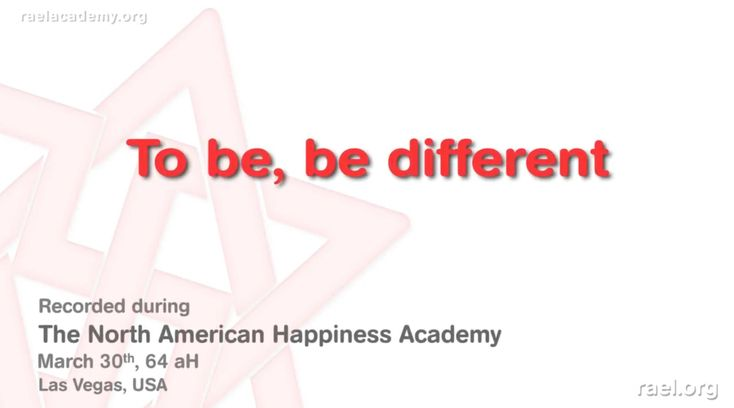 We present you here the 6th  excerpt of the 3rd day of the 64aH (2010) North American Happiness Academy with Maitreya Rael.  In this video, he explains to be, to be different, like the monk in Tokyo (shown in the movie Baraka https://www.youtube.com/watch?v=l-IS1... ), feel connected with everything, with the clouds, we are infinity. It was held in Las Vegas, USA, at the end of March 2010 (year 64 after Hiroshima). #raeltv