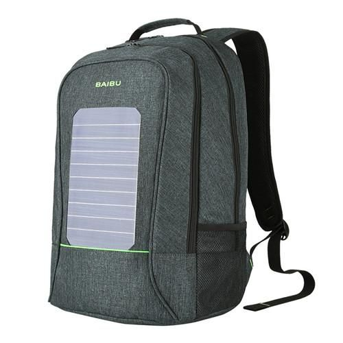 Solar Powered Backpack USB Charging Laptop Bag Fashion School Bag for Men Travel Business Casual Sport Waterproof