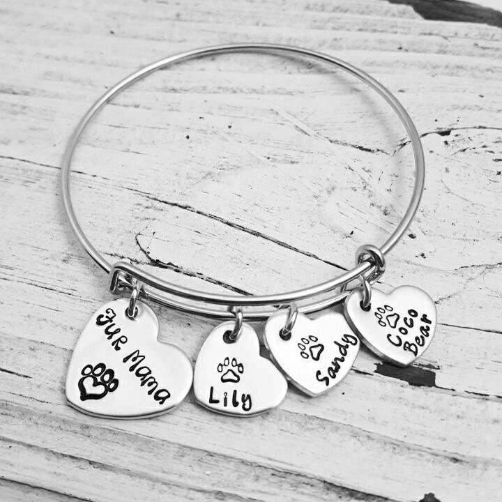 Fur Mama,I love my dog,I love my Fur baby,My babies have fur,Charm bracelet,Dog Mom,Cat Mom,Fur Mama gifts, Personalized dog bracelet gift by DanielaReneeDesigns on Etsy https://www.etsy.com/listing/206721531/fur-mamai-love-my-dogi-love-my-fur