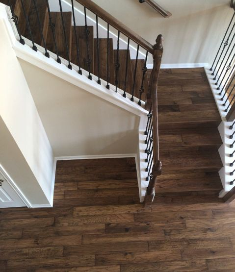 Mannington sighting!  We're loving this shot of our Mountain View Hickory hardwood flooring posted on Instagram by Design Floors.