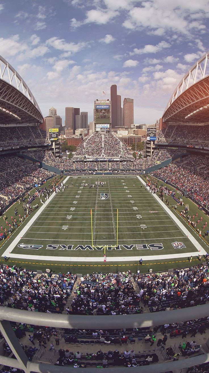 Seahawks Seattle Sports Stadium Football Nfl Wallpaper Hd Iphone Americanfootballwallpaper Americanfootballwall Seattle Sports Seahawks Sports Stadium