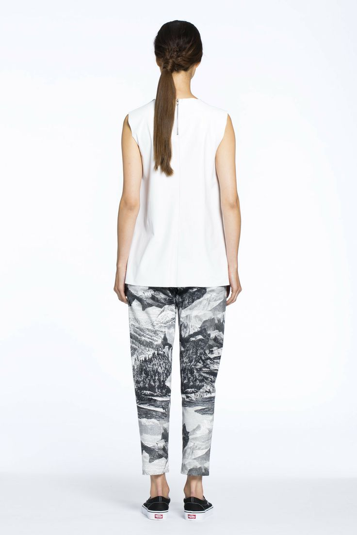Cascade Leather Top White $389.00 AUD