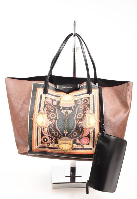 b1a5312fb7 Givenchy Antigona brown multi leather butterfly printed shopper tote purse   1320