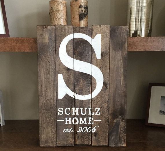 custom wooden sign family home sign with est year made with refurbished wood - Custom Signs For Home Decor